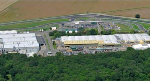 Lotus Cars Factory & race track at Hethel
