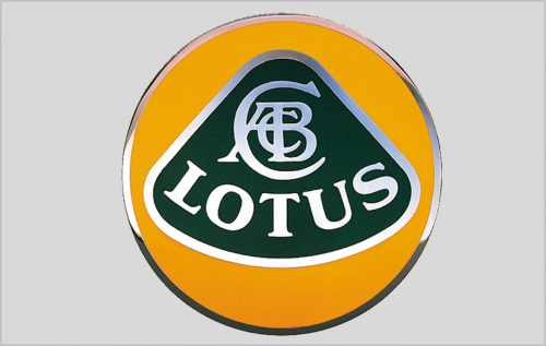 Chapman's initials on the Lotus badge