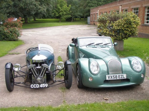 The original Aero and the Aero 8. Courtesy of Charlesworth & Son