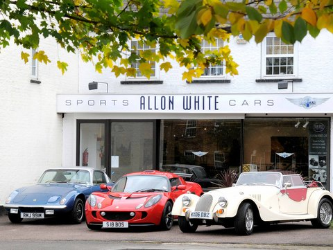 Allon White Sports Cars Showroom