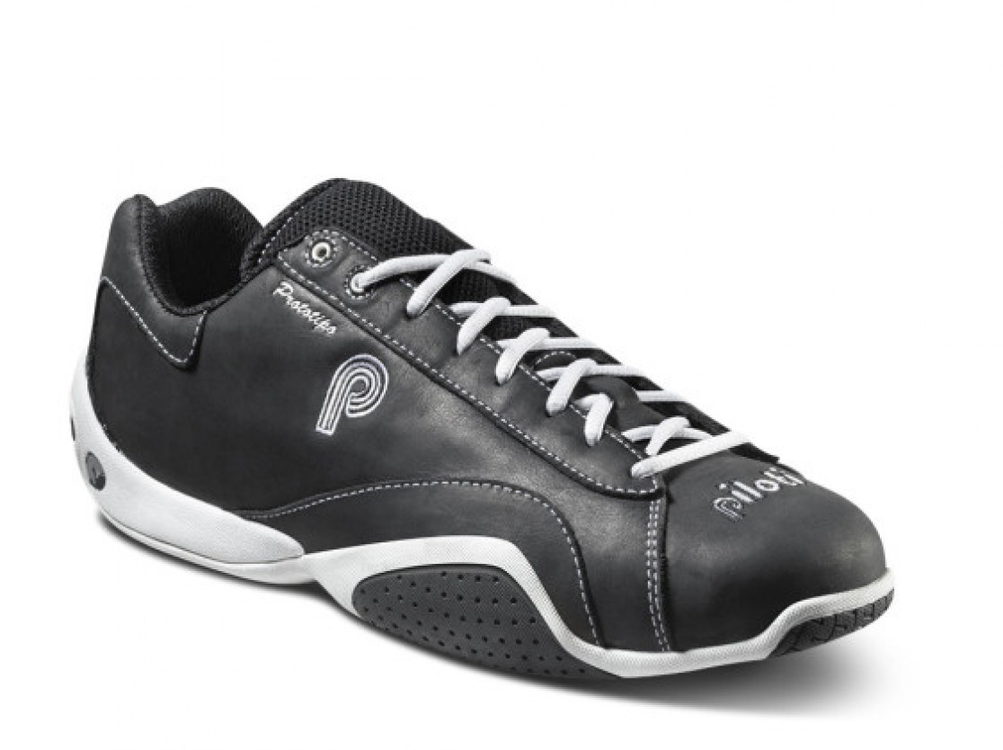 Piloti Prototipo in black leather