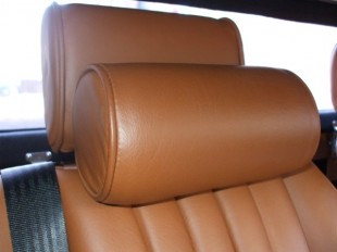 Morgan car leather neck roll