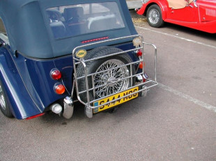 Luggage rack for post 2006 4-seater Morgan +4