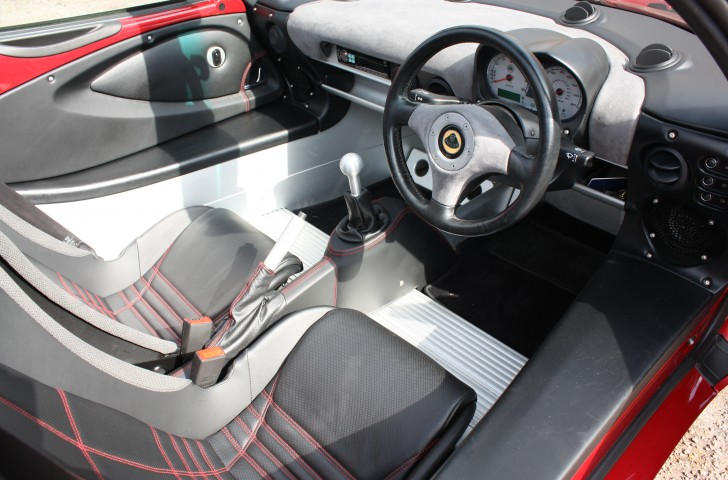 Lotus Elise Interior retrimmed in leather