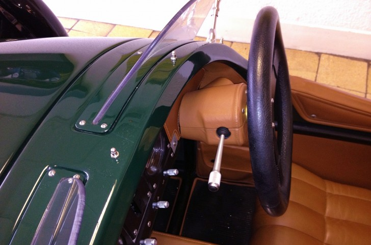 Morgan 3 Wheeler leather covered steering column cowl