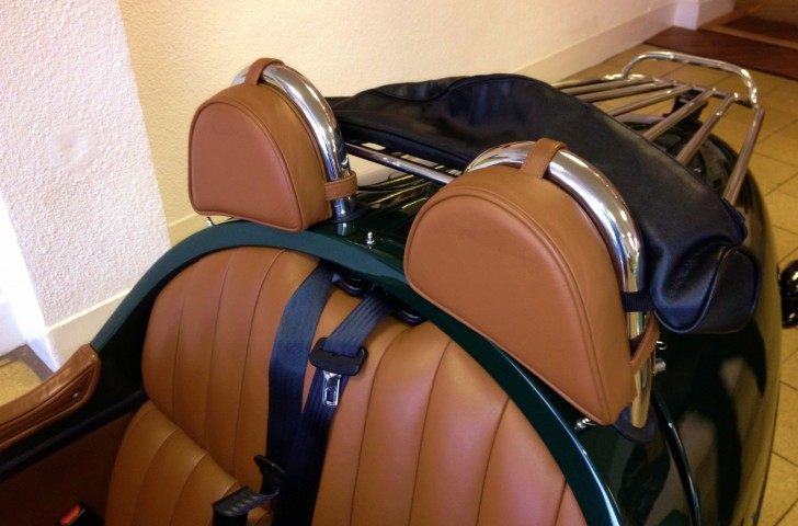Morgan 3 Wheeler Headrest Pads
